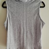 mouwloos colshirt grijs XL