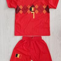 voetbal shirt + broek Belgie De Bruyne 7 maat 128
