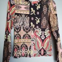 shirt tribal zalmroze meerkleurig M