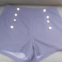 donkerblauwe korte broek met gouden knopen XL