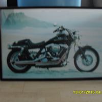 mooie grote poster van een Harley