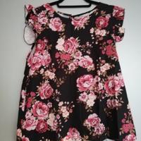 mouwloos shirt bloemen XL