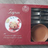 nieuw tapas set incl kookboek schaaltjes en tapas vorkjes