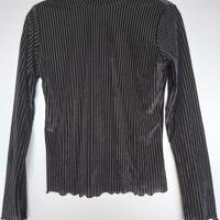fluweel zwart shirt ribbel S