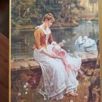 Nostalgische puzzel van Fame Puzzles- 1000 stukjes