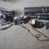 Zenith -A fototoestellen met telelens en flitsers