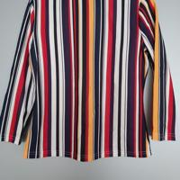 gestreept gekleurd shirt 3 kwartmouwen M