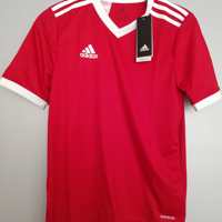 adidas shirt rood wit 164