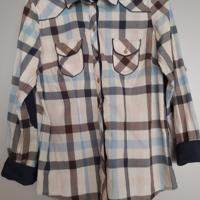 blouse blauw geruit M