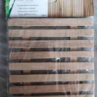 nieuw onderzetter bamboe 18cm x 18 cm