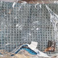 kussenhoes blauw grijs merk: babet nieuw in verpakking