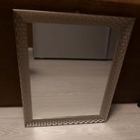spiegel zilver met ophanghaakje 47.5 x 57.5