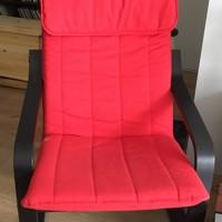 Ikea Poang stoel met rood kussen by station Spaklerweg in