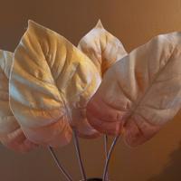 decoratie herfstblad velvet oranje geel