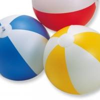 strandbal 23 cm te koop in de kleuren groen oranje blauw