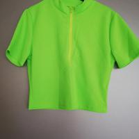 top fluor groen met rits L