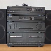 Philips stereotoren met losse CD-speler en twee boxen