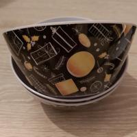 schaaltjes zwart/geel 14 cm set van 3 stuks