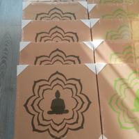 nieuw canvas doek boedah in donker of fel groen