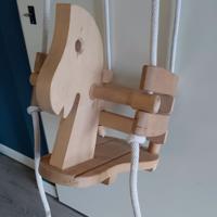 nieuw houten schommel paard vanaf 2 jaar oud