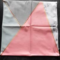set van 2 x kussenhoes roze vlakken