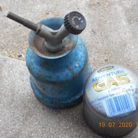 gasbrander met volle tank