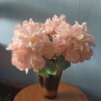 decoratie boeket set van 4 takken zalmroze bloemen