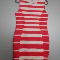 jurk rood wit gesteept L
