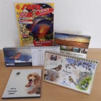 Maandkalenders met dieren/landschappen (2007 - 2017)