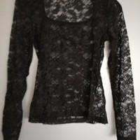kanten pullover zwart M