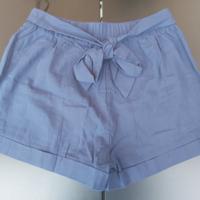 donkerblauwe korte broek met sierkoord M