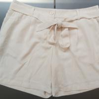 korte broek met koord creme M