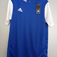 adidas shirt blauw wit 164