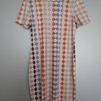 jurk ruitmotief met korte mouw L / XL