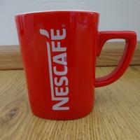 Nieuwe Nescafé mok rood witte opdruk Koffiemok Nescafe