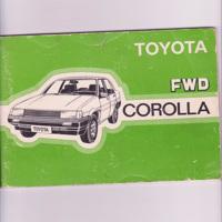 Instructieboek Toyota Corolla FWD 1983 handleiding