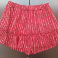 broekrok rood met witte streepjes XL