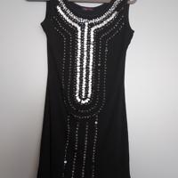 jurk zwart met zilveren lovers M