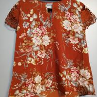 shirt met kanten mouwen XL