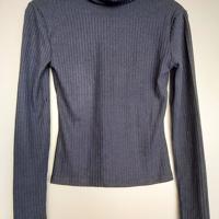 pullover met colkraag donkerblauw S / L