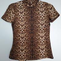 luipaard shirt zachte stof L