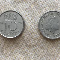 10 cent 1977-1978-1979-1980-1996 UNC/fdc uit munt-rol +Div.