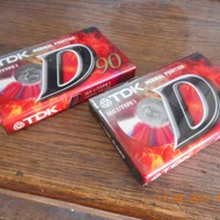 2 TDK casettes nog nieuw