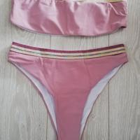 bikini bandeau roze goud XL