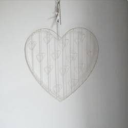 Kaarthouder hartvormig wit