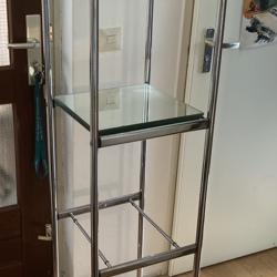 Design etagère van chroom en glas (spiegels)