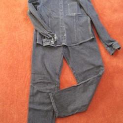 Donkere spijkerblouse en -broek, Mexx, maat 40