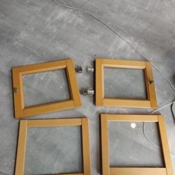 4 deurtjes met glas voor IKEA billykast