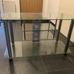 TV-meubel van glas