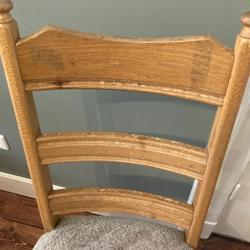 houten stoel uit de jaren 80